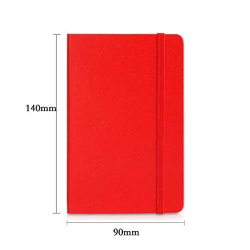 Heng Stationery pocket notebook kleine pocket notebook notitieblok mini draagbare notebook dagelijkse memo's omslag schrift, rood