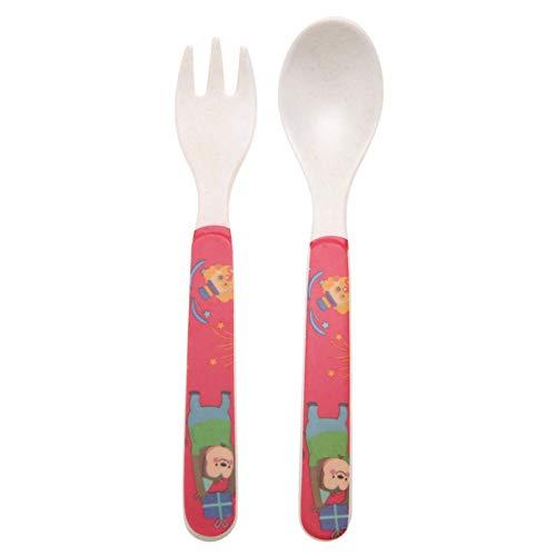 Vajilla, 5 piezas/juego de vajilla de fibra de bambú para niños, para bebé(Monkey party)