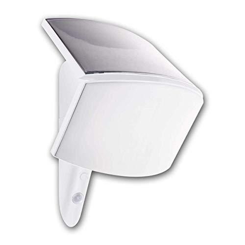 REV Ritter MCSensor Solar LED Leuchte | Wandstrahler | LED Strahler | Aussenleuchte | Bi Color |Bewegungsmelder |3W 250 Lumen [Energieklasse A++] | weiß