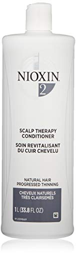 Nioxin System 2 Scalp Therapy Conditioner for Natural Hair with Progressed Thinning, 33.8 oz
