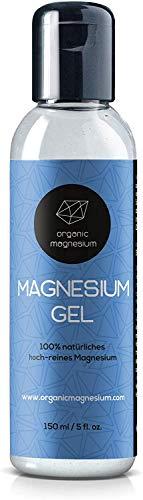Zechstein Magnesiumgel von Organic Magnesium - 150ml | 100% Natürlich & Reines Magensiumchlorid Gel | Perfekt für Sport & Muskel entspannung | Ultra Pur & Hochdosiert Flüssig Gel