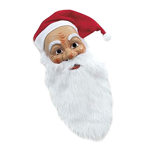 Weihnachtsmann Maske mit Plüschbart Weihnachten