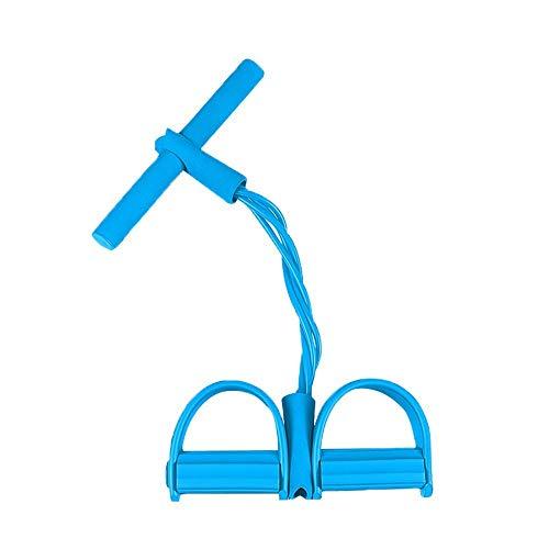 RLIRLI Demarkt Universal Home Fitness Equipment Sculpture Tummy Trainer Foot Pedal Expander Elastic Pull Rope Abdomen Waist Arm Leg Tummy Stretching Slimming Yoga Crunches