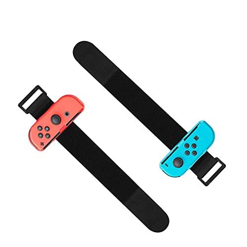 EEEKit Bandas de Muñeca Compatible con Nintendo Switch Joy Cons Game Just Dance 2020/2019, Correa elástica Ajustable para Joy-Cons, Paquete de 2 (Apto para muñeca de 3.15-7.5 Pulgadas)