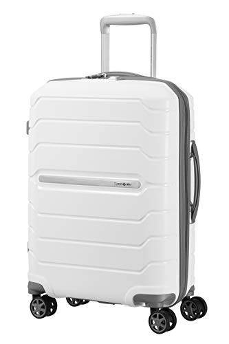 SAMSONITE Flux - Spinner 55/20 Expandable Bagage cabine, 55 cm, 44 liters, Weiß