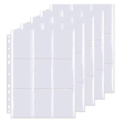 Funmo Pokemon Sammelalbum,540 Pockets Sammelkarten, Taschen auf beiden Seiten jeder Seite, 30 Seiten, 540 Taschen, Hochtransparentes Sammelkartenzubehör Aus sicheren und haltbaren Materialien