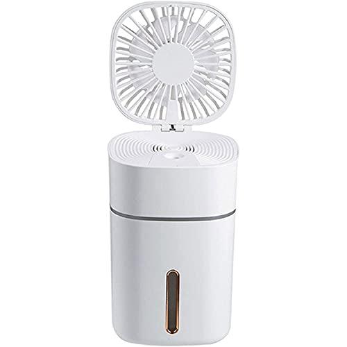 Aire acondicionado Ventilador de aerosol de refrigerador de aire personal, ventilador de aire acondicionado portátil USB con 3 velocidades, luces de atmósfera coloridas incorporadas, 300 ml de gran ca