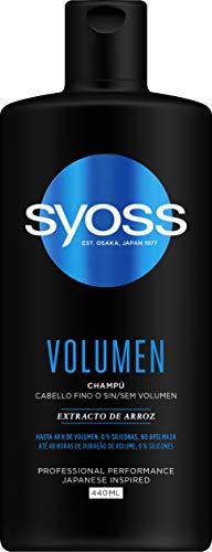 Syoss - Champú Volumen, 440 ml, Para cabello fino o sin volumen, Hasta 48h de volumen sin apelmazar, Cabello como recién salido de la peluquería