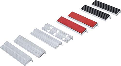 BGS 8442-1 - Juego de mordazas protectoras para tornillo de banco (8 piezas, aluminio, 125 mm, con imán, aluminio)