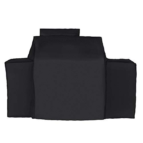 iCOVER Charcoal Gas Grill Cover-Fits Char-Griller Dual Function 5030 2 Burner Gas-and-Charcoal Grill, Heavy Duty Waterproof Patio Outdoor Canvas Barbeque BBQ Grill Cover Black #G21622