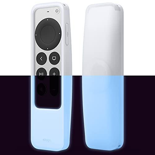 elago Funda localizador R5 Compatible con Apple TV 4K Siri Remote de Segunda generación (2021) y Compatible con Apple AirTag: cordón Incluido, protección contra caídas (Luminoso Azul)