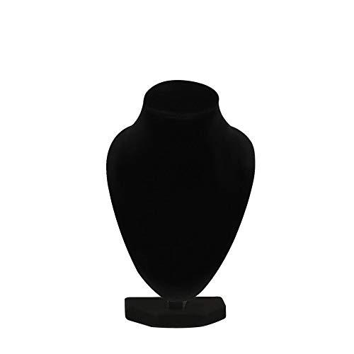 MOHAN88 Collar de maniquí Negro Duradero, Colgante de joyería, Soporte de exhibición, Soporte para Mostrar, Decorar, Pulsera, Organizador de Joyas