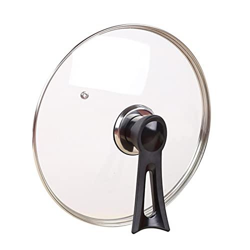Mango lidvertido de vidrio templado en el hogar28-42CMuniversal para todos los utensilios de cocina: hierro fundido, acero inoxidable (Size : C1)