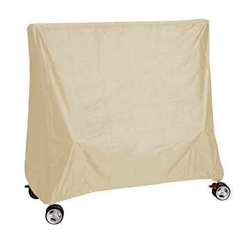 STTC Schutzhülle für Tischtennisplatte, Tischtennis-Abdeckhaube für den Außenbereich, Wasser- und staubdicht, schützt vor Beschädigungen, wetterfest, 155x75x150cm,Beige