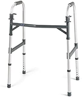 Invacare Heavy-Duty Dual-Release Adult Paddle Walker, Case