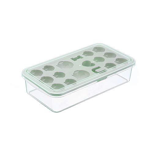 Doe-het-zelf creatieve ijsblokjesbak, siliconen ijsblokjesvorm met afdekking, eenvoudig los te maken, BPA-vrij ijslade voor watercocktails, bier-whiskyfruit ijs