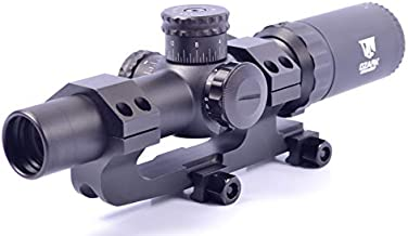 Ozark Armament Razorback 1-6x24 Second Focal Plane Rifle Scope - Mil-Dot Reticle - Illuminated Reticle Adjusts for Red or Green - Includes Optic Mount, Lens Cover, Battery, and Mounting Tools