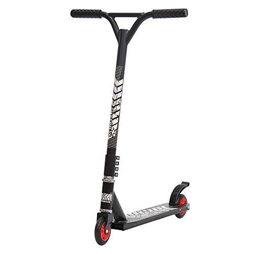 homcom Monopattino Freestyle per Adulti in Alluminio, Impugnatura Ergonomica e Pedana Antiscivolo, Nero 65.5x50x79cm