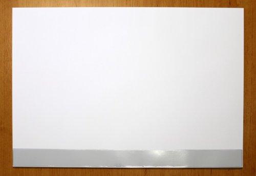 Schreibtischunterlage Papier mit Schutzleiste blanko weiß 30 Blatt 59,5 x 42 cm DIN A2 90g-Papier Block Unterlage