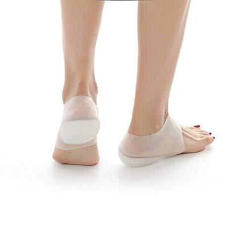 Soulitem onzichtbare hoogte lift hak pad sok oogstift verhoging inlegzool pijn verlichten 3 cm voor dames heren schoenen accessoires