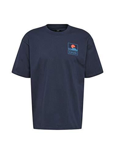 Edwin 45121MC000131 MT Fuji TS T-Shirt E Canotte Uomo Navy Blazer L