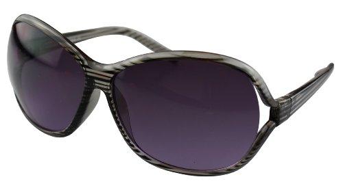 Alex Flittner Designs Nerd Sonnenbrille mit Streifen in schwarz