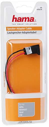 Hama Jeu de câbles d'adaptation pour enceintes III (pour Opel,Renault,Seat,Volkswagen, câble adaptateur pour haut-parleur III, Adaptateur de câble) Noir