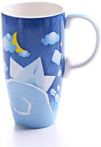 Taza de cerámica para café / té,1 taza pintada de gran capacidad con múltiples modos para taza de automóvil opcional-Pink_Butterfly_500Ml-A_Boat_500ml