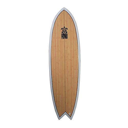 HONU Tabla de Surf Fish 6'4White–Retro Design 4x derives