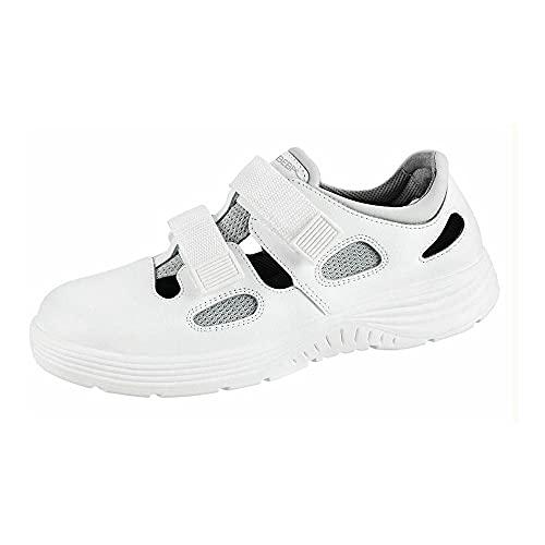 Abeba Sandale 711031 - x-Light, Glattleder, Weiß, zertifiziert, Größe 43