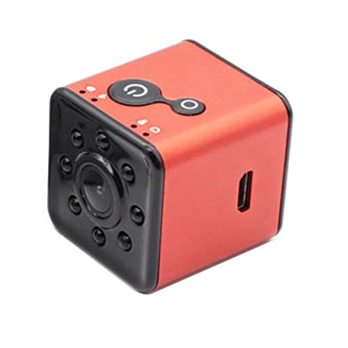 N / A Tätigkeits-Kamera Neue wasserdichte IR-Nachtversion HD 1080P Minikamera SQ13 WiFi drahtlose Sport-DV Digital-Videorekorder IP-Mini-Camcorder (Color : Red)