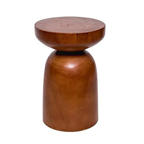 WyaengHai Eckkonsole, modern, schlicht, einzigartig, Retro, rustikal, klassisch, Holz, Beistelltisch für Zuhause und Büro, klein, Aufbewahrungstisch, holz, natur, 32x32x45cm