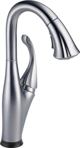 Faucet Addison Single-Handle Touch Bar Faucet, Bar Sink Faucet, Prep Sink Faucet,  Touch2O Technology, Arctic Stainless - Delta 9992T-AR-DST