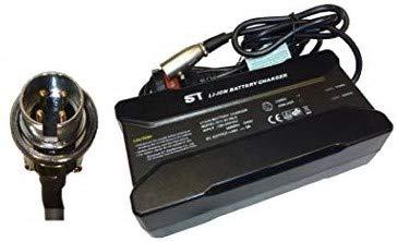 Powatechnic Cargador de batería de Litio 48V-54.6V 5A para Bicicletas eléctricas, Scooters, sillas de Ruedas y más! (PAJ 4 Pin Male)