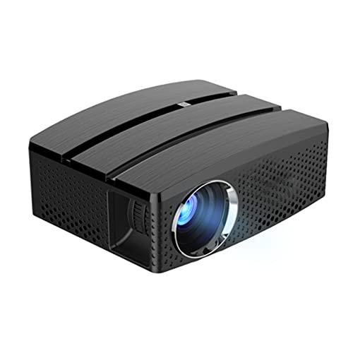 KIUY Mini proyector, proyector de Video portátil, proyector Inteligente de Alta definición, Adecuado para los proyectores de películas de Juegos de TV Party, con Interfaz AV de USB HDMI