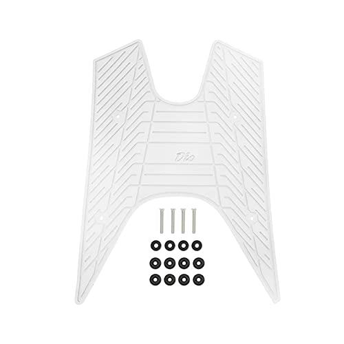 GUOXIAO MEIJUAN Motorradfüße Kissen Pads Pflege Einlegesohlen Pedal Pad Einlegesohle Fit für DI Oaf18. DIO50 AF17 AF18 AF25 DIO 50 Fersenfußmatte Pedalkissen (Color : White)