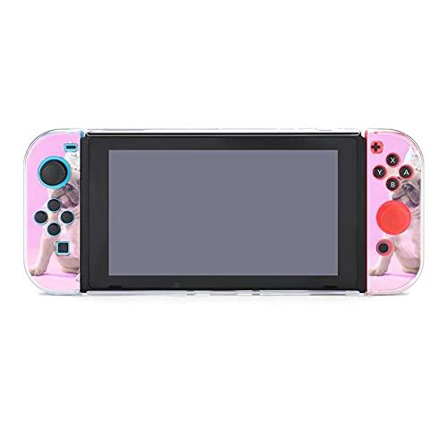Funda para Nintendo Switch French Bulldog Puppy con una corona de papel, juego de cinco piezas, funda protectora compatible con Nintendo Switch Game Console