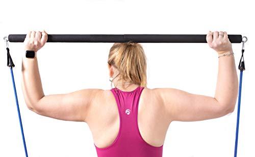 AvoFit Bandas de resistencia de 108 cm para entrenamiento en casa, 100 kg, color negro