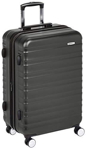 Amazon Basics Valise rigide à roulettes pivotantes de qualité supérieure avec serrure TSA intégrée - 68cm, Noir