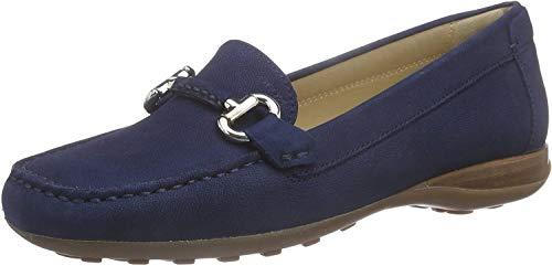 Geox Damen D EUXO D Mokassin, Blau (DK ROYALC4072), 35 EU