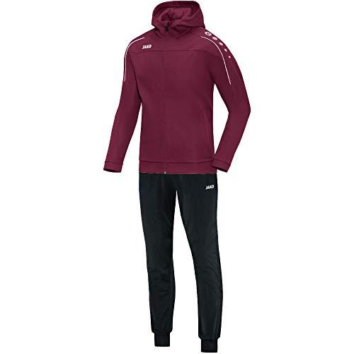 JAKO Damen Classico mit Kapuze Trainingsanzug Polyester, Maroon, 48