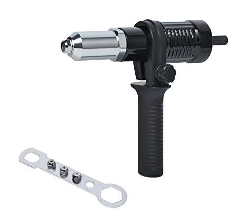 Adaptador de Pistola Remachadora para Taladros Eléctrico Inalámbrico, Kit de Herramientas de Remachado Poweka para Insertar Tuercas de Mano