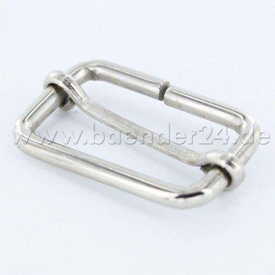 Regulator / Schieber aus Stahl, für 15mm breites Gurtband - 10 Stück