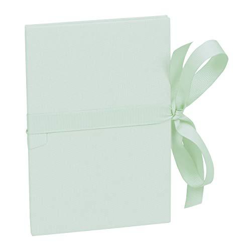 Semikolon (361774) Leporello Classico Moss (verde pastello), con fiocco, 14 foto (10 x 15 cm), album fotografico a fisarmonica