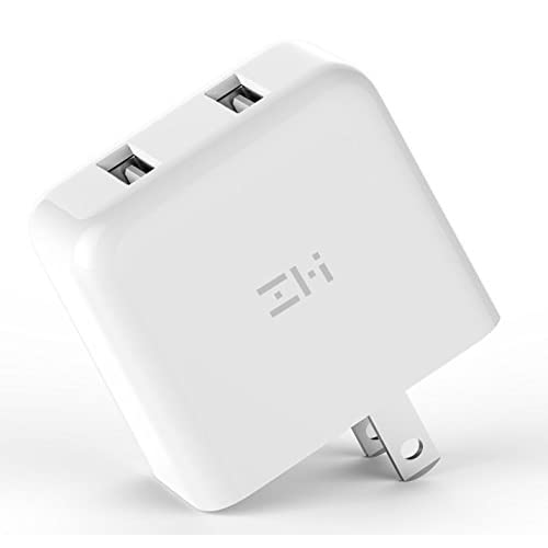 ZMI V2 Charger Wall Adapter for Apple iPhone X / 8/7 / 6 / Plus, iPad, Samsung Galaxy S9/S8/S7/S6/S5/Edge/Edge+, LG, Motorola and More, Foldable Prong ...