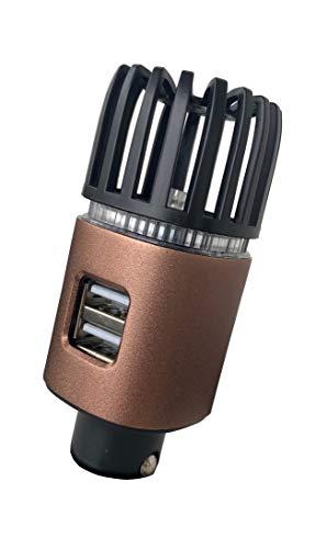 MCalle - Deodorante per auto con ionizzatore Dual USB (rame-ETL opaco)