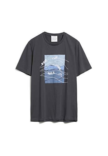 ARMEDANGELS JAAMES EXTRA Mile - Herren T-Shirt aus Bio-Baumwolle L Acid Black Shirts T-Shirt Regular fit