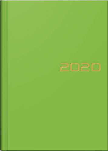 BRUNNEN 107966153 Wochen-/Buchkalender (2020, Modell 796, 2 Seiten = 1 Woche, A5, 14,8 x 20,5 cm, Blattgröße 14,8 x 20,8 cm, Balacron-Einband) grün