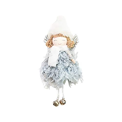 Christmas Pendant Blue Christmas Decorations Creative Cute Mini Feather Bell Angel