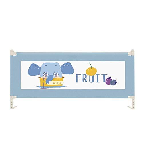 Rieles de cama azul/gris/rosa para niñas Cuna convertible/Individual/Doble/Queen/King Size Cama 1 5/1 8/2 m Barandilla de seguridad (Tamaño: 150 cm / 59 pulgadas)-150 cm / 59 pulgadas_Azul